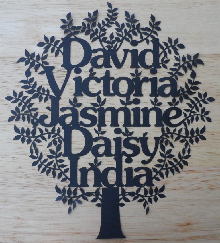 New Laser Cut Design Family Tree Kayland